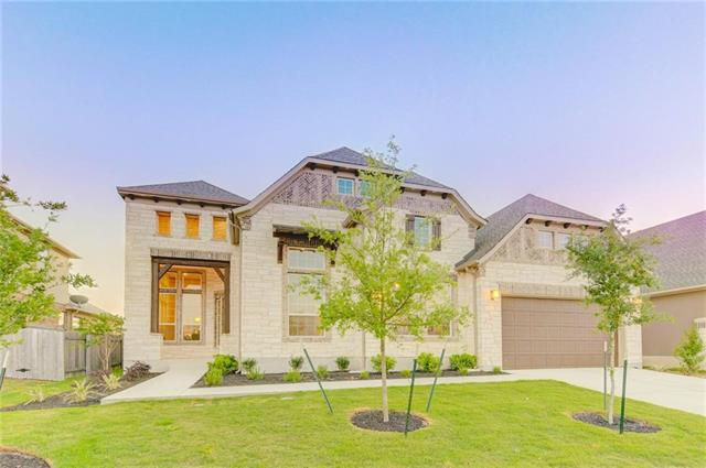 """MLS# 3231805 - Built by Village Builders - March completion! ~ 1-story 4BR3.5BTH features """"multi-generation"""" suite that has a huge sitting area, large BR and a large, tiled shower. Also includes a formal DR, huge central Great Room wcedar-wrapped beams, large gourmet kitchen, bright breakfast nook and an over-sized covered patio. The kitchen has a large island, walk-in pantry, 42""""cabs, Silestone counters & SS appliances. Master features a bay window,  walk-in closet, and a true spa bath..."""