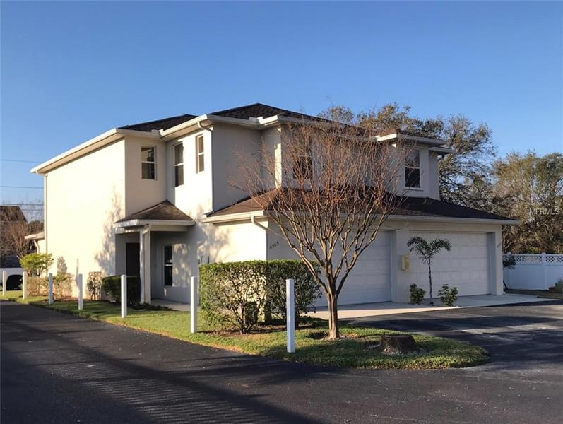 This magnificently maintained 3 bedroom, 2.5 bath, 2 car garage is located in the quiet community of The Plantation.  The large 1,790 sq.ft corner unit comes with 10ft ceilings and featuring all block construction.  The 2005 construction features custom cabinets, granite counter tops, stainless steel appliances with a new refrigerator, upstairs washer/dryer hookups, new tile and carpet, hers & his volume walk-in closets in the master suite, plenty of storage and ample parking. The 25 unit complex is centrally located close to shopping, restaurants, parks and much more.  The dog friendly community welcome you to your new home.  This home is priced right and sure to sell quick.  Call today, before it is too late!