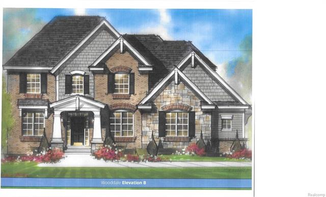 """Award winning Windmill Homes presents, the Wooddale, elevation B,  in the exclusive Halsted Hollow North subdivision.This spec home will be a 5 BR, 41/2 bathrm 3,126 sq. ft. colonial with an entry level guest suite in addition to the upper level master suite. Custom Lafata cabinets with soft close hinges, dovetail drawers and 36"""" upper cabinets in kitchen. Granite countertops in kitchen and granite vanity tops in all bathrooms. Ceramic tile in all bathrooms and laundry room. Kitchen includes Whirlpool electric cooktop with recirculating vent microwave over cooktop, double oven and dishwasher. Gas fireplace with marble surround and mantle included. Home will have 9' ceilings on the entry level. Stained oak handrail with painted spindles. Your choice of 3"""" solid oak or 5"""" engineered floors. Buyer chooses light fixtures with lighting allowance, 6 recessed lights included. 3 car garage with side entry included. 1 year builder warranty and 10 year basement warranty included."""