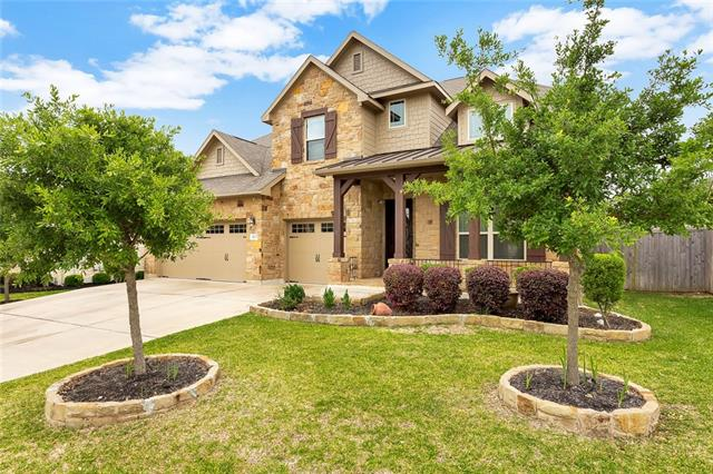 Welcome home! Your new house includes stainless Steel Double Ovens, Butler's Pantry, Dual Basin Sink, 5 Bedrooms, 4 Full Baths, Master Down + Additional Bedroom w/ Full Bath Down, Dining Room, Office, Living Room, Game Room, Media Room, Easy access to IH35, shopping and Restaurants. Quick walk to Teravista Elementary. Amenities include 18 Hole golf course, 2 fitness rooms, 3 pools, splash pad, fishing ponds, & playgrounds.