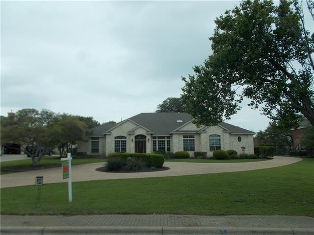 Home is located in a Country Club Community easy access from I 35 and 130 toll road   Large lot fenced yard 3 car garage many custom touches to interior great street appeal