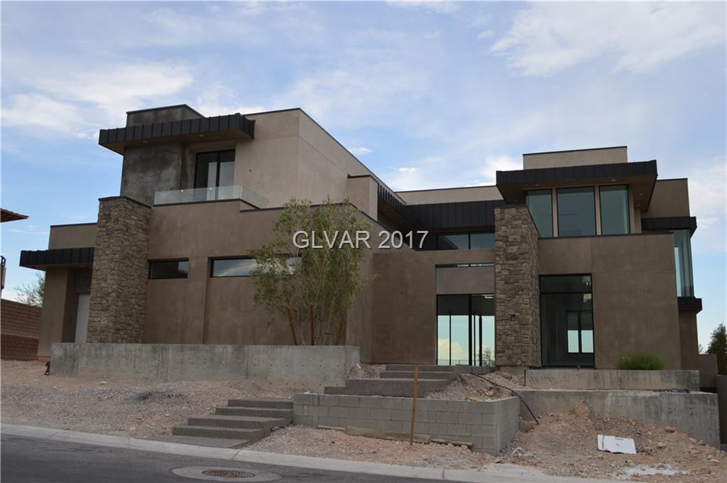 This home is currently under construction, estimated completion date of August 1, 2018....open floor plan with city/strip/golf course/mountain views with 2 balcony's. Spacious basement for theater,bar,game room....a must see.