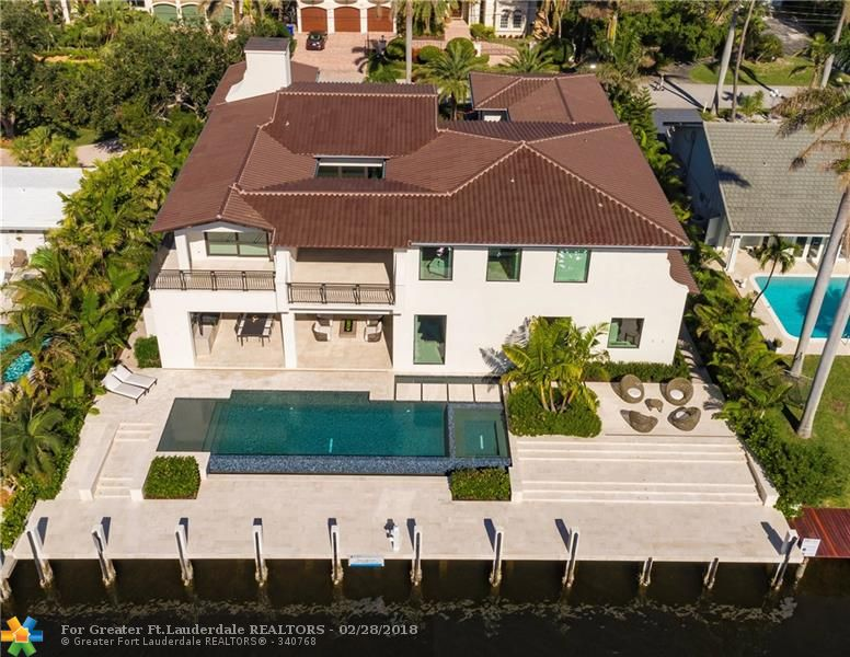 Over-the-Top New Construction ~ A True Modern Masterpiece! Just off the Intracoastal w/100' of water frontage on the deepest canal in Fort Lauderdale. Extraordinary finishes and meticulous attention to detail throughout make this unique estate absolutely remarkable. Over-sized master suite w/dual baths Sought-after Harbor Beach location provides quick and easy ocean access, quick walk or bike ride to Fort Lauderdale Beach, close proximity to major highways, & the International Air & Sea Ports.