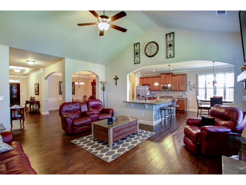 Soaring cathedral ceilings & oversized family/great room!