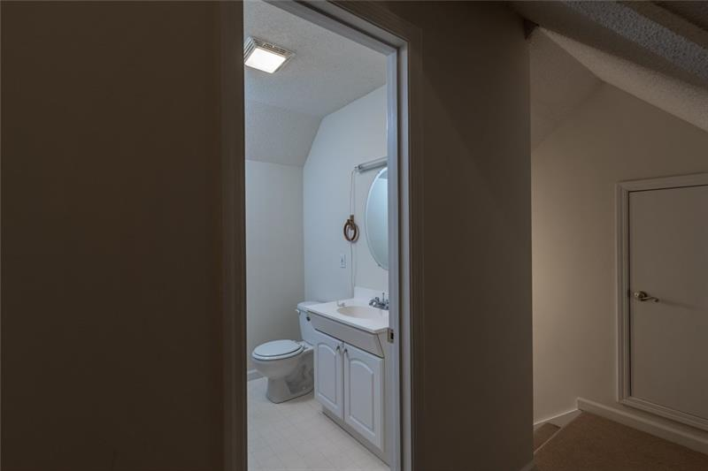 Half Bath in Upstairs Apartment