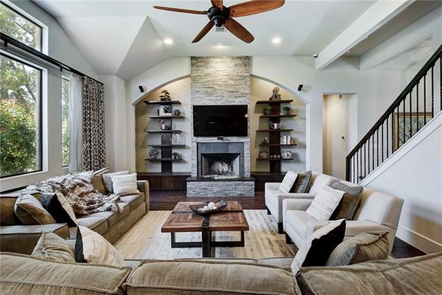Custom built home filled with luxury finishes throughout! Centered around top notch style & design, this open plan is accented w/wood floors, dry stacked fire place, custom built ins, & gourmet kitchen w/butcher block topped wine cabinets & commercial grade appliances. Escape to the spa like master suite or retreat to the outdoor kitchen to catch the sunset. Situated on an oversized lot & walking distance to Lake Travis. All of Lakeway's amenities within reach making this home perfect for any lifestyle!