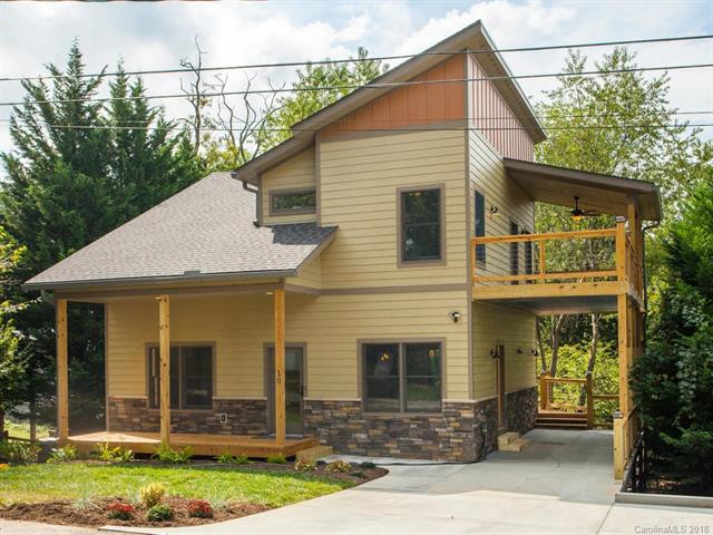 STUNNING new home by Rohr Builders, Inc. is a MUST SEE! Close to everything that IS West Asheville. 4BR/3Bath home w/ 9' Ceilings (Main & Upper), Master-on-Main w/tile Shower w/Rain & Wall Heads, 2 BRs UP with full Bath and 4th BR in Lower Level w/tile Shower. GORGEOUS Kitchen with Sitting Peninsula & Waterfall Granite, Samsung's Slide-in NG Range, WaterFall D/W, French Door frig. NEED INCOME? Use LL as a Roommate Suite (or possible Homestay, subject to City Permitting requirements). Home has Five (5) ADDITIONAL rooms for whatever you need them to be! (i.e.Kitchenette/Wet Bar/Laundry Center-LL, Craft RM/2nd Laundry-UP, Media Room, Game Room, Studio, Exercise Room, Office, Family Room...). Five (5) OUTDOOR LIVING SPACES! Covered Front/Back Porches, Rear Deck, massive Upper Deck (partially covered) to watch Sunsets or TV with friends. Carport wired for (available) Level II/30A Plug-in Charging Station. Many SmartHome & Network ready features, efficient Two-Stage/Dual-Fuel HVAC & more!