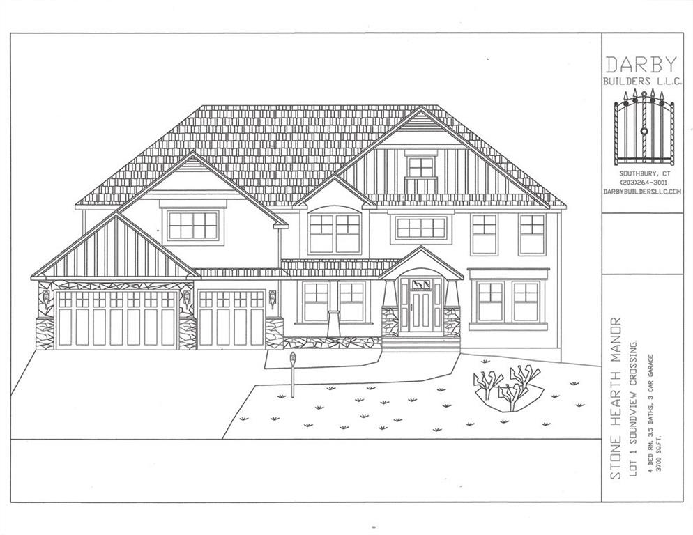 New Construction: Soundview crossing is offering 7 new homes all located on a Cul de Sac Street: Whispering Pines lane. Darby Builders is offering The Stone Hearth manor in on lot-1, A beautiful 1.8ac lot with city water and public sewers allows privacy & conviences to amenaties. Come see our French Country model home on Lot-2. Model home open daily.  Gps locator: 251 Soundview Ave., Shelton CT. Darby Builders and Agent are related.