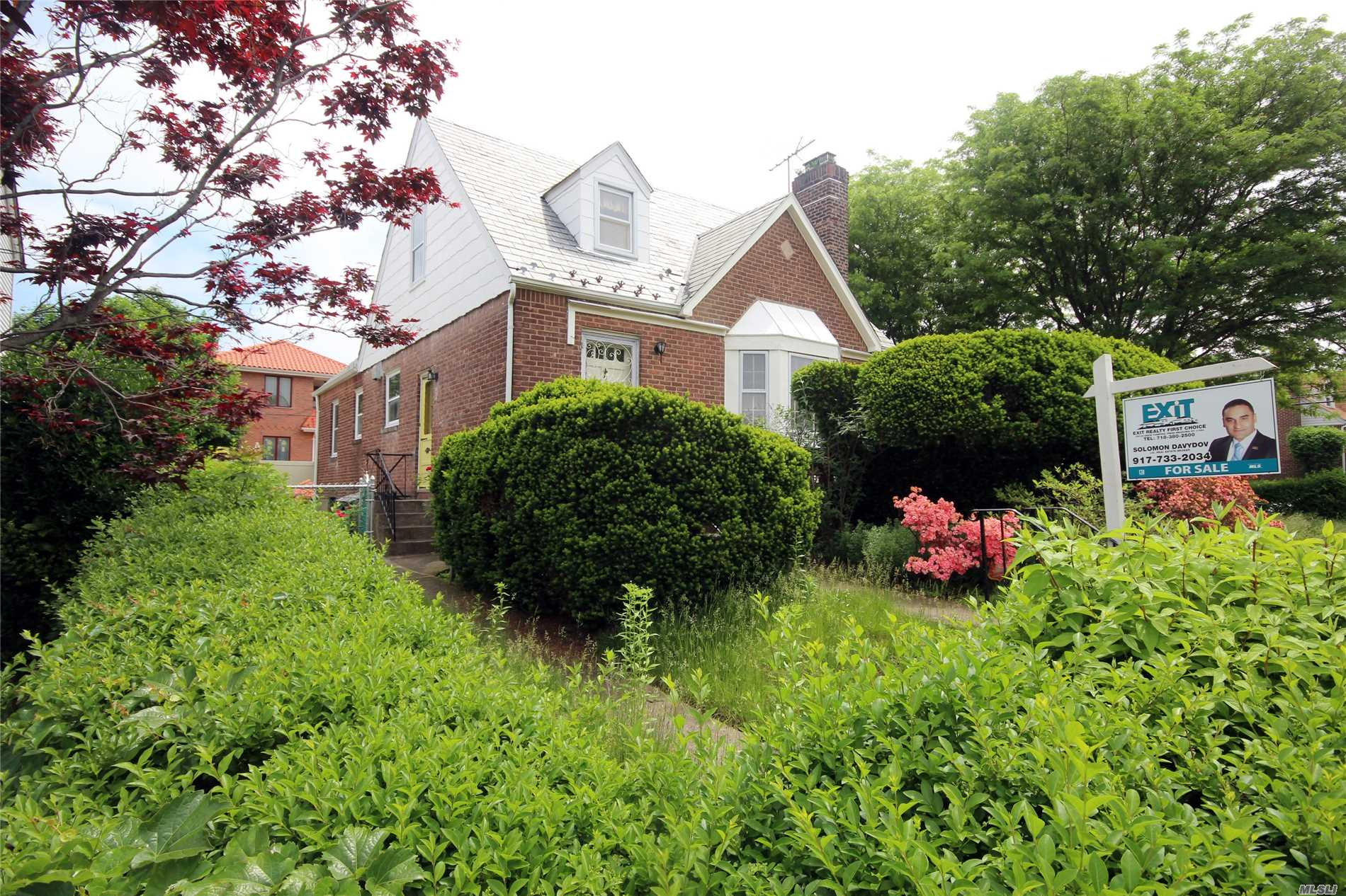 Detached House Located In The Center Of Fresh Meadows, Minutes From Manhattan Express Bus& Other Transportation, Shopping, Schools And Houses Of Worship. The House Features An Extra Large Lot Consisting Of Living Room W/Fireplace, Formal Dining Room, 4-Bedrooms, Eat In Kitchen, Full Finished Basement With Maids Room And Large Family Room. There Is A Spacious Side Yard, Large Backyard And A Detached Garage. Great For Future Development Of A Center Hall Colonial House Should Someone Be Interested.