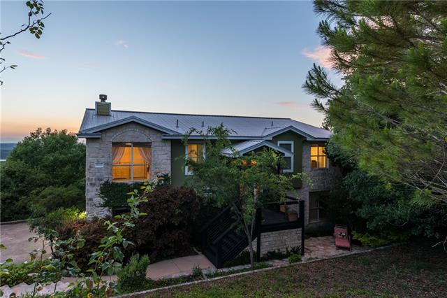 EASY SHOW. Text agent w/ 2 hr notice. STUNNING VIEWS FOR MILES!  This tranquil home sits on .6 wooded acres w/ private trail.  Hike in your own back yard! Take in sunsets from multiple balconies. Recent carpet, main level & exterior paint, newer stainless appliances. 40 yr metal roof and oversized garage w/workshop. Just 2 miles to Bar K Park & Balcones Canyonlands Nat'l Wildlife Refuge. Awesome low fee HOA with campground, boat docks, park, pool, tennis, hiking. The epitome of peaceful Lago Vista living!