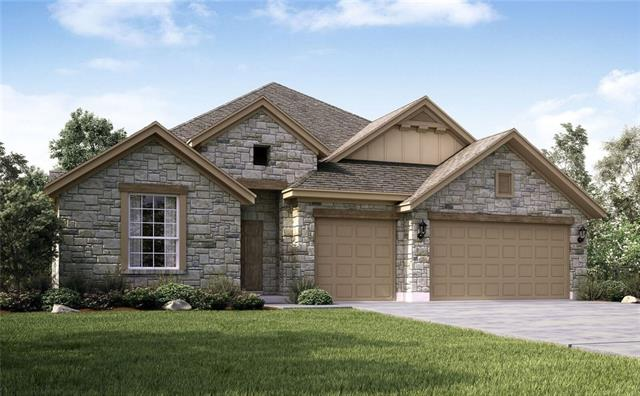 "This popular 1-story plan features 3 full baths, 3 car garage + dining & study! Main living areas feature rich hardwood flooring throughout with 42"" cappuccino kitchen cabinets to compliment and a gorgeous exotic granite to finish off the glow. 8' doors throughout make this home feel like the ceilings are unreachable and with a huge family space to gather family and friends in, everyone will feel more than comfortable in this brand new Blanchard plan!"