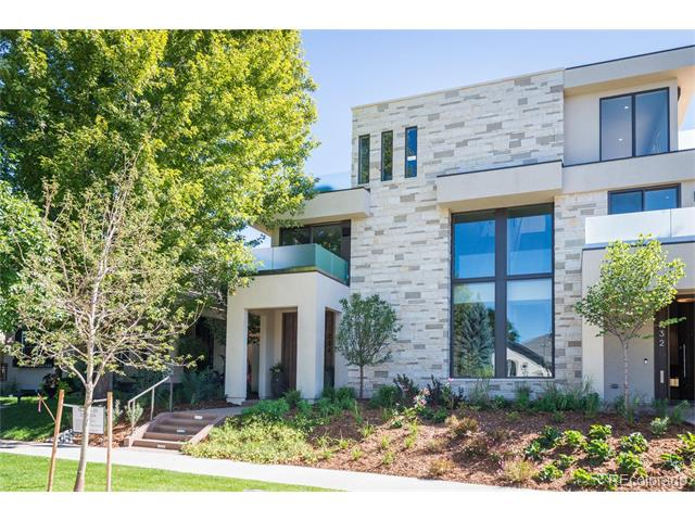 These four transitional contemporary residences offer the height of generous living. Conceived with an unmatched set of criteria, blended open and graceful living spaces, cutting edge architecture, artistic design and high quality materials all within walking distance to the countless arts, dining and cultural amenities that Denver's Cherry Creek North community has to offer. This four level home is developed with exceptionally wide lot, featuring expansive floor plans that radiate openness and beauty. Front porches welcome you inside, where large areas of glass fill the rooms with beautiful sunlight and views of the outdoors. Courtyard-like patios flow directly into the adjoining interior room, giving the spaces a sense of indoors-outdoors. A third floor terrace with amenities like an outdoor fireplace and pass-through serving bar. MonroeIV.com