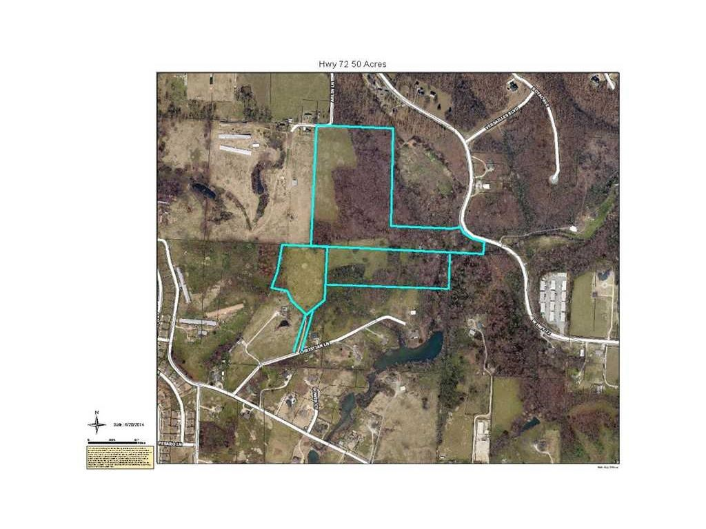 Beautiful 49.5 acres ready to be developed, right off Hwy 72 in Centerton! Just a few miles from the new Bentonville High School, easy access to hwy 72 and Walmart home office! Live stream frontage, 2 springs, 3 access points!