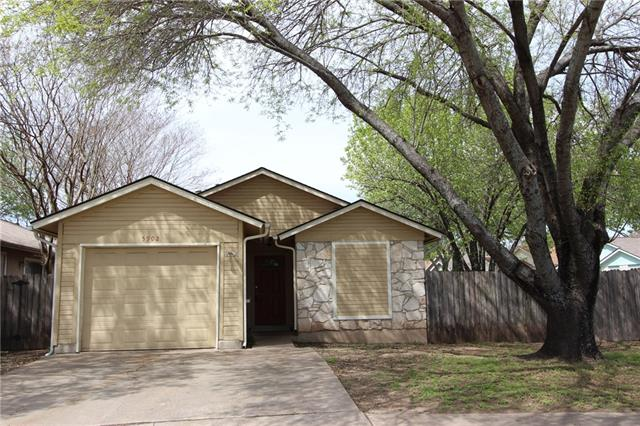 Great convenient Milwood neighborhood off Parmer and McNeil near Apple.  Larger desirable corner lot with shade trees. Efficient 2 bedroom/1 1/2 bath home with granite kitchen counters and stainless refrigerator conveying.  Corner fireplace, dining, family room. Perfect downsize or starter home. Tile & Carpet throughout. Newer Central Heat & Air System. Single car garage. Tenants will professionally clean carpets and house at move-out.