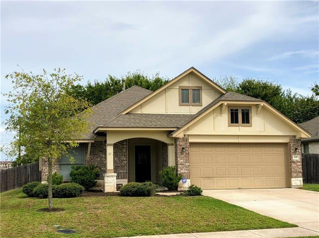 Don't miss this adorable 1-story home, situated in the desirable Star Ranch neighborhood. Enjoy using the neighborhood pool, biking/jogging trails, nearby park, HEB Plus & quick access to TX-130. House is on a corner lot that features a private backyard with lovely shade trees and covered patio. The functional open floorplan offers opportunities to transition rooms easily into bedrooms, offices, nurseries, home gyms, etc. Open kitchen/living areas are perfect for entertaining. Schedule your tour today!