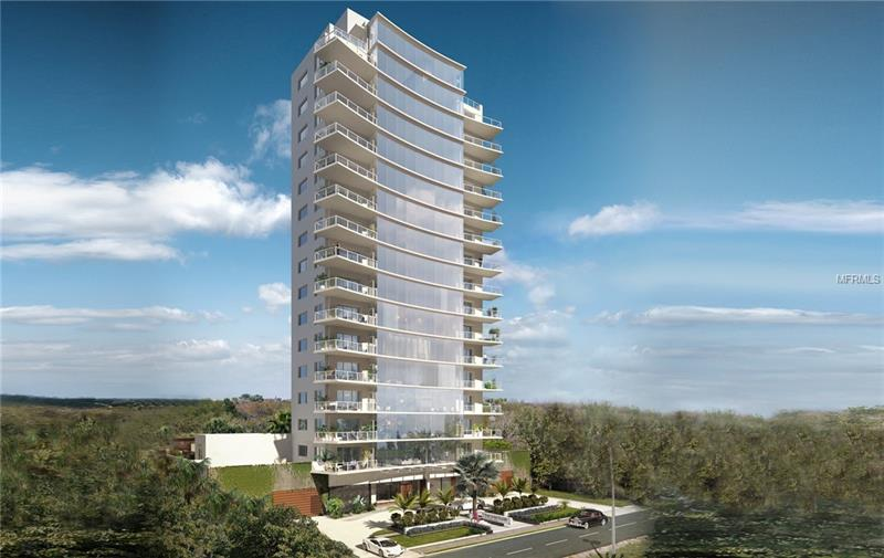 "Pre-construction. To be built. The Sanctuary is a 17 story luxury tower offering only 15 residences; one per floor. With 80' of Bayshore frontage, each home offers unparalleled water views. One of the most dramatic features is the frameless window system covering 48' of the residence and with glass railings on the balconies, the spectacular views remain unobstructed. With ceiling and window heights of 10' and 2 large balconies, these residences make the tranquility of nature part of the home. Exterior features include a grand entrance flanked by stone water features and beautiful wood faced parking garage doors. This residence is the entire floor, allowing for ultimate privacy and 360 degree views. A private elevator foyer with double doors leads to a large open floor plan. Gaggenau appliances come with a VIP white-glove service with 5-year warranty and include gas cooktop, built-in coffee maker, speed microwave oven and the refrigerator/freezer columns and dishwasher feature cabinet panels. The 11' kitchen island features a quartz countertop with waterfall edge.  Standard luxury appointments include 2'x4' porcelain tile, drywall ceilings, integrated 4"" LED overhead lighting, Smart-home pre-wiring, kitchen drawers with stainless steel interiors, custom pantries with pull out drawers, and Rohl plumbing fixtures throughout, to name a few. 2 parking spaces included; parking lift or limited number of private garages available for purchase. For those who want the very best, The Sanctuary is not to be missed!"