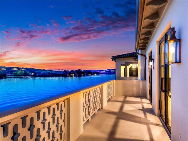 Undeniably one of the most impressive Lake Austin waterfronts.208+-feet of frontage w spectacular panoramic views of the Pennybacker Bridge & mins to downtown.Designed by renowned architect Bill Harrison.Abundance of outdoor liv areas,glass tile negative edge pool,dock,stainless steel bar, elevator & sep guest quarters.Solid white oak flooring & millwork,Venetian plaster walls & ceilings,clay tile roof w/copper gutters,stone from Portugal,Italian marble & mosaics.5 star energy-rated & gated motor court.