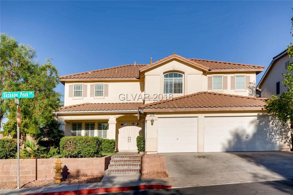 Beautiful Corner lot, 2 story home on a cul de sac in highly desired 89012 neighborhood! This home features a private pool, spa, 2 staircase, a covered patio, front porch, 3 car garage, 5 bedrooms and 3 full bathrooms!!