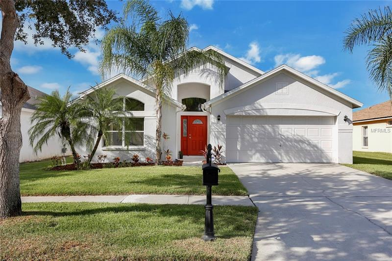 WELCOME HOME!!! This METICULOUSLY CARED FOR 3 bedroom, 2 bath, 2 car garage home located in one of the most desirable locations in Tampa - WESTCHASE! Located in the Village of STOCKBRIDGE, it has a NEWER ROOF (1 1/2 yrs) with transferrable warranty and a SCREENED IN/COVERED LANAI. OPEN FLOOR PLAN  includes a separate living and dining room in addition to the spacious Kitchen/Family room combination. Separate laundry room. Lots of windows - all complete with solar film for insulation and privacy while letting in plenty of natural light to this bright home. The large kitchen features an abundance of counter space including a big center island, built in desk, newer refrigerator (2 yrs), gas range and spacious pantry. The HUGE MASTER BEDROOM is complete with an expansive WALK-IN CLOSET and substantial MASTER BATHROOM including a separate tub and shower and HIS AND HERS VANITIES. Additional features include Culligan water softener (3 yrs), 15 seer HVAC (new 6/2013), new front door, epoxy enamel floor in garage, brand new screening on back patio, newer laminate kitchen floor (3 yrs) with 25 year warranty. ENJOY full access to all of the Westchase amenities including 2 community pools, tennis courts, and playgrounds. Easy walking distance to Maloney's, Zen World of Beer, the YMCA and the many restaurants and shops within West Park Village. Close to Citrus Park Mall, International Plaza, the airport, downtown and top rated schools. View the AWESOME VIRTUAL TOUR! Won't last long-THIS ONE IS A MUST SEE!!!