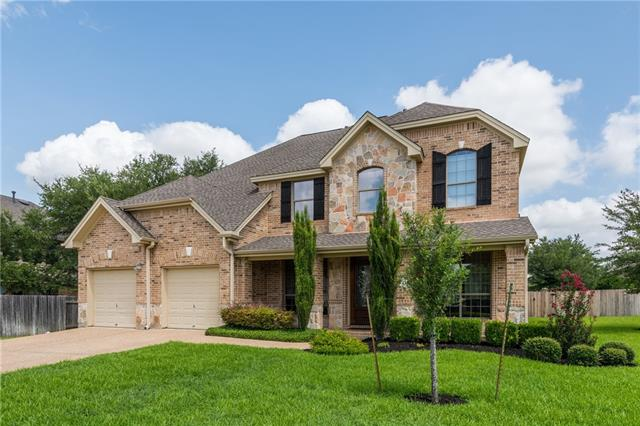 Ready to move in house in the Ranch at Brushy Creek. 5 bedroom, 4 full baths, large corner lot, Master plus 1 downstairs, new carpet and paint throughout the house. Media room wired for surround, game room upstairs. Spacious formal dining and breakfast areas. Formal living/option to convert to office space. Open to below floor plan, granite in kitchen, stainless steel appliances.  Great for entertaining, covered and extended patio, large backyard. Show like a new home.Low traffic street. RRISD