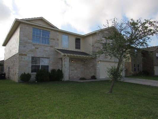 Email or call for appointment-easy to show this spacious 5 bedroom home in Legends of Hutto. Newer flooring, fresh paint, neutral throughout . Great kitchen with breakfast bar. Master suite with double sinks and walk in closet.    Shows like new.