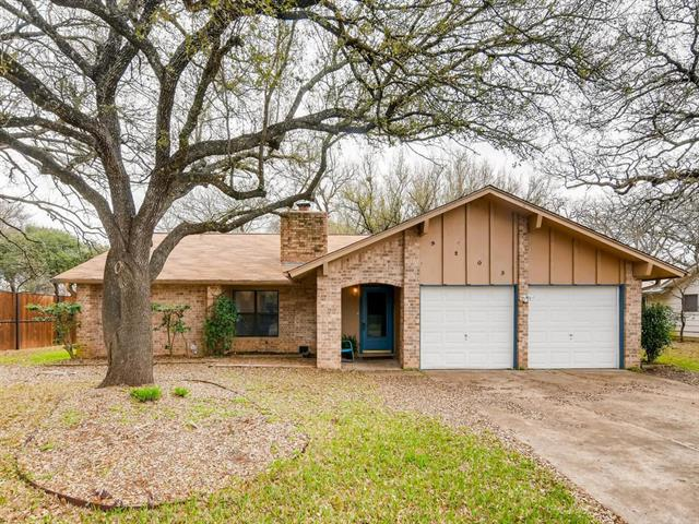 Location,location, location. If you are looking for a cute house that has tons of natural  light and huge trees in a huge yard, you found it!! Extraordinarily quiet street near 183,Parmer,620, and 45. 1 1/2 blocks from a super park with shaded walking trails. Some updating done and new carpet in master. New roof coming next week. Extra space in garage. This house is as quaint as its address.