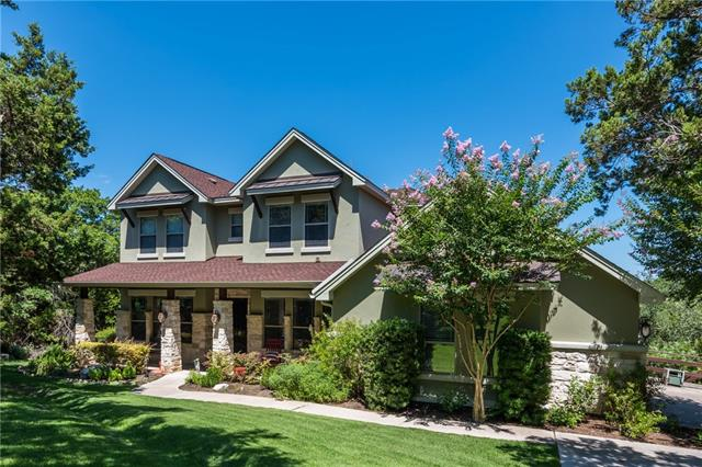 Old Lakeway custom home w/ 3 car garage. 2 levels w/ walkout basement rec area. Travertine & hardwood in main lvg areas. Open kitchen, walk-in pantry. Laundry & office off kitchen. Master bdr suite w/ lg bath w/ 2 closets. Main floor guest suite w/ bath. Beautiful view from lg deck. Pvt back yard. 3 upstairs bdrs w/ Jack & Jill bath. 5th bdr lake view & balcony. Basement rec rm & wkshp w/garage door. Full bath under-stair storage space. Room for a pool. Lease purchase available or lease only $4500.
