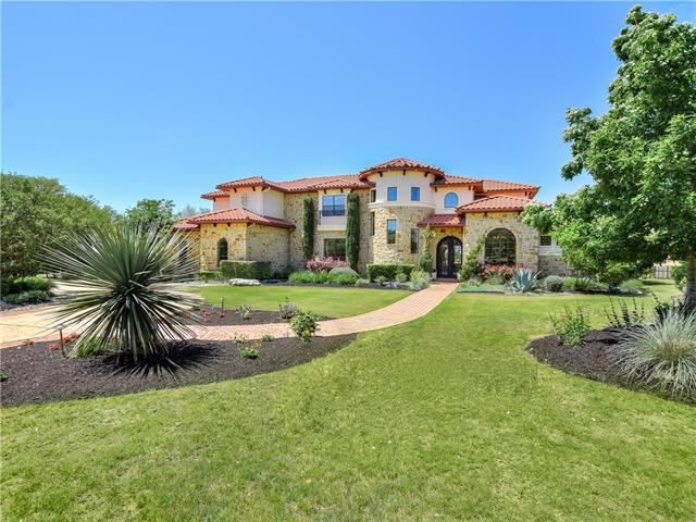 Elegant custom home on private 1.26 acre lot & backs up to greenbelt above Lake Austin. Breathtaking views. Plenty of room to build a Casita for more bedrooms.  Exquisite finishes include stunning mesquite hardwood, travertine flooring, wrought iron chandeliers & Cantera doors. Amazing stair turret w/custom wrought iron railing. 1419 sq ft covered outdoor living with outdoor kitchen, fireplace, gas heaters, fire pit. $100K kitchen remodel with Quartz counter tops & high end appliances. Huge laundry room!