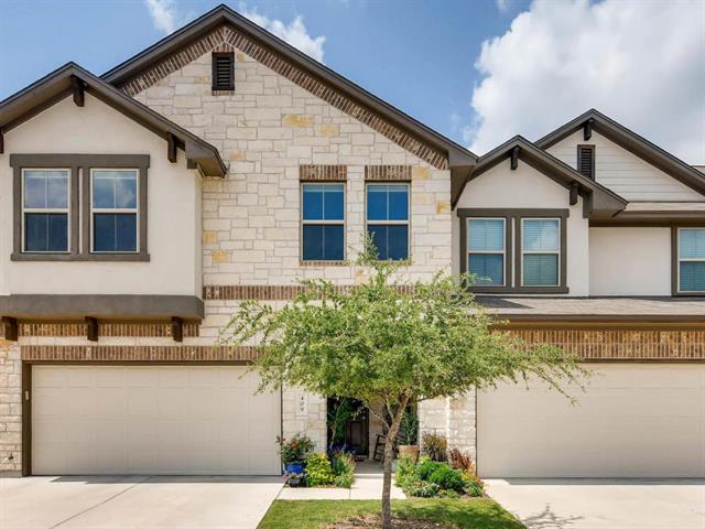 1.5 HR Notice with Owner-Showings between 10 & 7 only. Milestone stunning Faulkner condo with dramatic high ceilings, open-concept family area with breakfast bar & breakfast nook. Secluded backyard on greenbelt with no neighbors behind the unit. Upstairs boasts 3 spacious bedrooms, 2 full bathrooms, & utility room.  Many upgrades  Quiet, friendly area. Near HEB, Lakeline Mall, Alamo Draft House, Cedar Park Rec Center, and walking trails. (1859 sf builder) Better than new! GORGEOUS inside! Will not last!