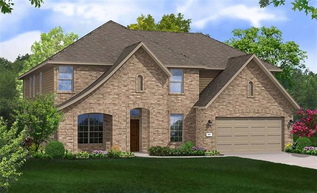 Spacious Brown two-story plan featuring Formal Living and Dining Rooms, 6th bedroom/4th full Bathroom addition, Master Bath with drop-in tub and mudset shower, Double Closets in Master, Game Room, Media Room, ALL walk-in closets, and Covered Patio. Full sod/sprinklers. Est. completion early May.
