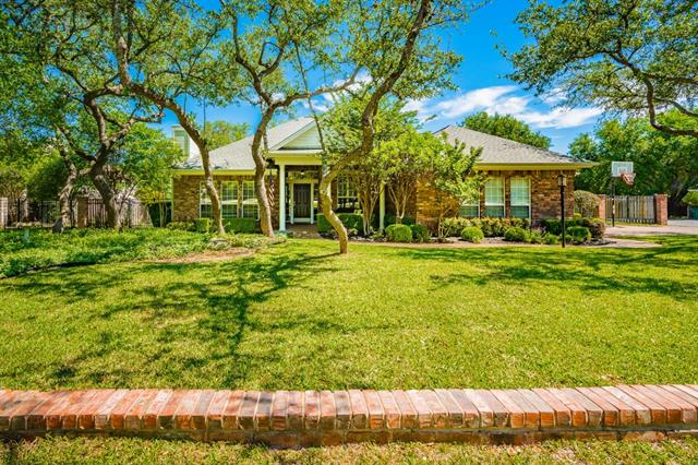 True custom finish out 1-story w/ 4 BR +Office in Old Lakeway! Updates by original owners in kitchen, master bath, secondary baths, office addition w/ built ins & walls of windows, shutters, roof & gutters replaced, new septic 2005. Wood & tile, open floor plan & 11' ceilings! Fenced .4- Ac lot with mature landscape, large back patio + side deck designed for 2 hammocks & room for a pool! Well-built & maintained home in LTISD  Walk to tennis, golf, swim center & Cafe- minutes to the lake. LOW TAX/NO HOA!