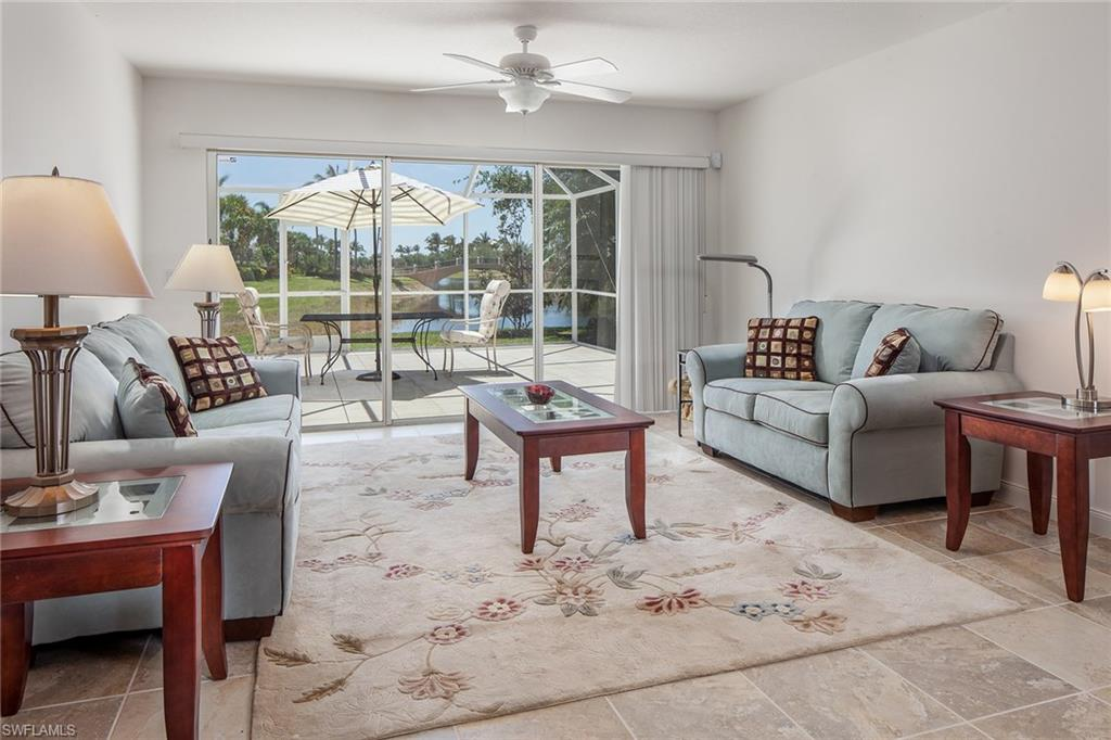 "Start living the Naples lifestyle today in this impeccably kept move-in ready turnkey home. This southern exposure Capri model offers one of the best canal views in Verona Walk from the finished patio with screened in lanai. Features include electric storm shutters as well as manual shutters conveniently installed for each window. Verona Walk was awarded ""Community of the Year"" for the State of Florida in 2014. Enjoy the ease of life with the many amenities and activities: 24/7 guarded gated entry, over 20 miles of jogging/walking trails that allow the use of golf carts, children's play area with equipment, 24/7 fitness center, resort-sized community pool and lap pool. The Town Center features post office, bank, gas station, car wash, restaurant and bar, state-of-the-art fitness center, library, computer center, card rooms, a fabulous ballroom in the community center, and a full-time activities director. Tennis anyone? Verona Walk offers a very active tennis community and coming soon 4 pickleball courts. Get a group together for bocce or shoot a few hoops on the basketball courts. There is something for everyone in Verona Walk."
