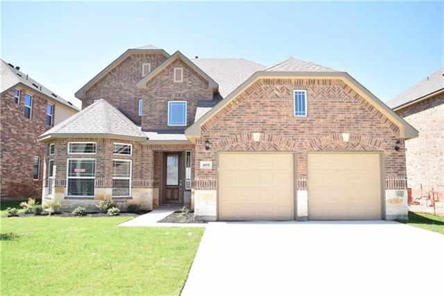 Incredible 4 bed/3.5 bath, Formal dining, Study, PLUS bonus/game room upstairs. MIL plan.Through the beautiful Mahogany entry door with glass inserts and enjoy this wonderful open plan home boasting granite, rounded sheetrock corners, 14 seer AC with programmable thermostat, architectural detail throughout, satin nickel designer hardware & lighting. SS appliances , cultured marble vanities. landscaping pkg+10 yr HOME OF TEXAS WARRANTY.