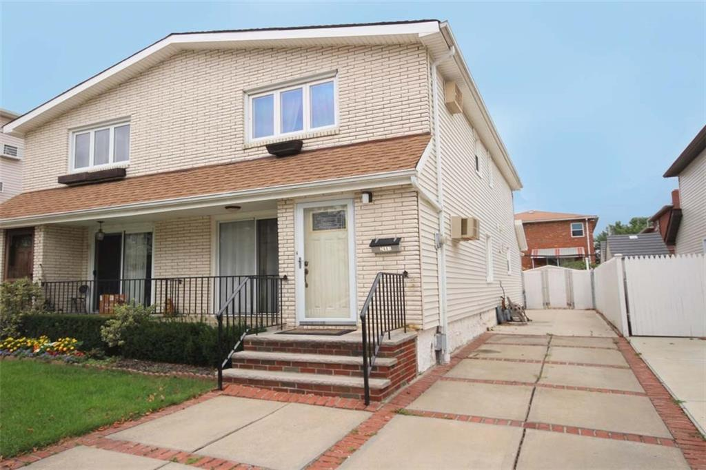 Don't miss this opportunity to move deep into the tree lined streets of Brooklyn's suburbs - the beautiful Bergen Beach! This lovely 1 family house offers 3 nice size bedrooms 1.5 baths, a spacious 16x54 first floor as well as a long private driveway with paved yard.