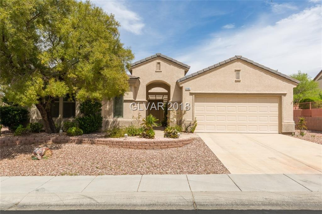"Located on a nice cul-de-sac with mountain views and private back yard-backs up to open space* Expanded ""Grand Model"" with 2,307 s.f. with 2 Master bedrms & 3 bedroom/office layout* Big kitchen layout with center island, roll-out shelves, large pantry, breakfast bar, open to family room* Shutters*Coffered ceilings in living/dining room*Nice backyard fully fenced & side parking on wide lot*Garage storage cabs & work bench*All appliances included."