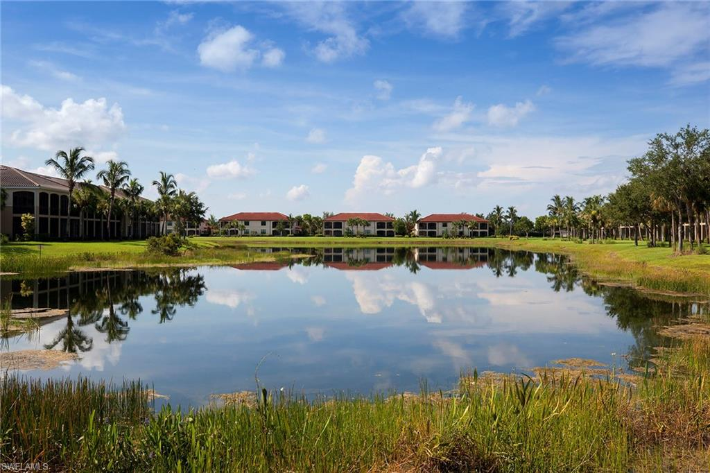 Treat yourself to magnificent lake views and Florida's tropical sunrises, sip a refreshing cup of coffee in your private courtyard and seamlessly entertain guests in your expansive tiled lanai. This three-bedroom, three-bath turnkey furnished end unit offers an abundance of desirable features such as volume ceilings, impact glass windows and doors, two-car garage and laundry room with a tub. The kitchen boasts white solid surface countertops, white cabinetry and GE Profile appliances including a coveted gas stove. Access the lanai from the master bedroom, living room and family room. The master bedroom is soaked in natural lighting and boasts large walk-in closets and an en-suite bath with dual sinks, ample counter space, water closet and separate walk-in shower and tub. Enjoy your spacious floor plan located in the private community of Marengo in Fiddler's Creek, where residents enjoy excellent amenities including fitness, tennis, dining, spa services, resort-style pools and extensive activities and events. Optional golf, marina, and beach memberships are available.