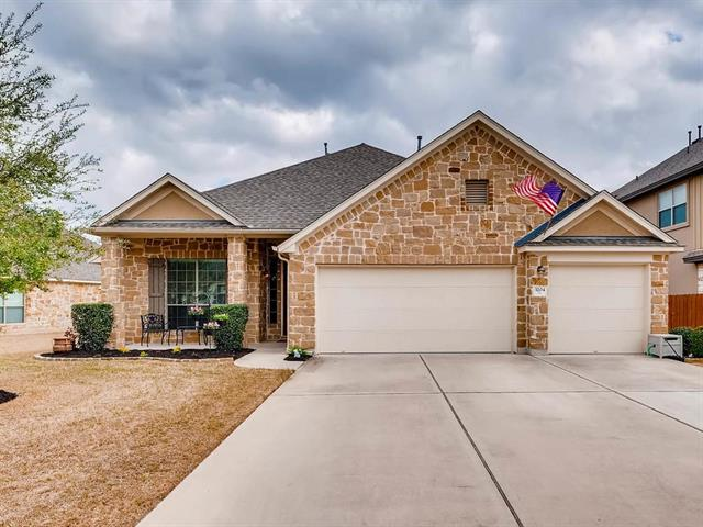 This beautifully appointed, single story, 4 bedroom, 3 full bath home backs up to the neighborhood pond.  Sit on your covered back patio to enjoy watching the ducks in the pond and the deer roam shore line!