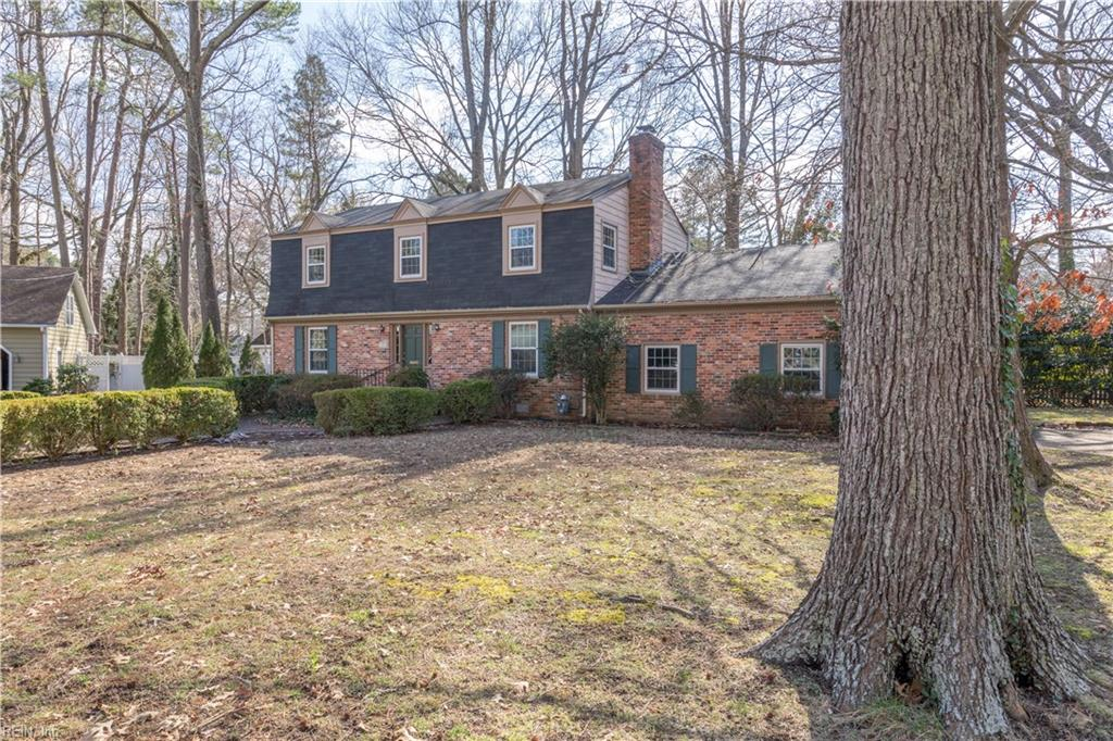This is the location you've been searching for! This spacious Dutch Colonial home sits on a generous third of an acre at the end of a quiet cul-de-sac lined with serene, wooded lots. You'll love the hardwood floors, bright living room with fresh paint, built-in shelving, granite counters, and large garage. This Riverside/CNU area is one with low inventory and is close to many conveniences and lots of recreation. Harris Teeter, CNU, Noland Trail, Lions Bridge, Ferguson Center for the Arts, Riverside Regional Hospital, Virginia Living Museum, James River Country Club, and many other Peninsula hot spots are a walk, bike ride, or short drive away. Come and experience this peaceful setting for yourself!