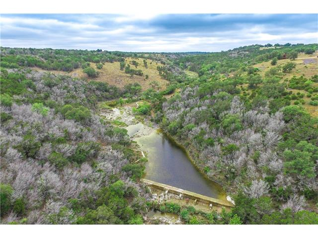 2,500 ft of both sides of Peters Creek! Seller added a dam on portion of the creek for swimming or fishing. Small, 256 sq ft camping cabin in excellent condition. Great elevations, that offer incredible views of Lake Buchanan and Inks Lake. This would make an ideal family getaway from the city, or a great piece of land to build a single family home. Ag- exempt make for low taxes! Close to Longhorn Cavern State Park and Legends Golf Course is approx. 10 mins away. 1 hour from Austin.