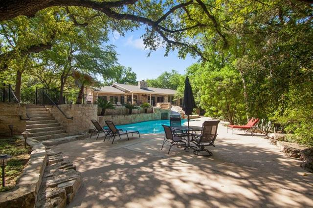 This unique property is more than a house with a pool, it's an experience and a lifestyle. Set on 3/4 acres in the original Old Lakeway neighborhood (no mandatory HOA dues) on the golf course and pond. Located within minutes of shops, restaurants, schools, parks, walking trails, small aircraft airport, the Lakeway Resort and Lakeway Marina at Lake Travis. Major updates include: Kitchen, Roof, Electrical panel, HVAC, Propane tank, Driveway and others, too numerous to list.