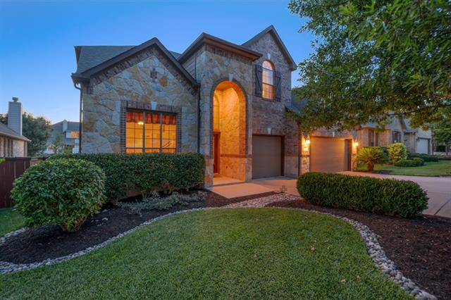 Terravista in Round Rock! Gorgeous well maintained 2 story/3505 Sq. Ft Brick Lennar Home ready for new owner. New carpet, fresh paint, new back fence. Pride of ownership shows w/ this house. Large open kitchen & high ceilings, bright light over size windows w/ Fireplace in Den area. Grand entry w/ crown molding downstairs.Large master bed & bath. Amenities: 3 pools, splash pads, 2 gyms, 18 hole golf, tennis, 5+ playgrounds, jogging and bike trails, basketball, + more! Close to Award Winning RRISD Schools.