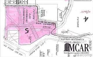 29.575 acres of Freeway Service on US-24 adjacent to I-25 north of Newport Rd. Original site plan accounts for a roadway and 5 building sites.