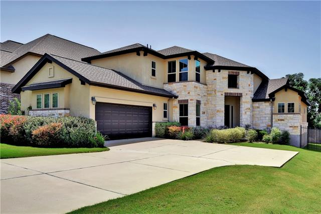 Bright, open floorplan with 4 bedrooms & 4 full bathrooms plus an office, upstairs bonus room and game room. Kitchen features wood beam ceilings, granite counters, pendant lighting over the island, walk-in pantry, stone tile backsplash, induction cooktop, double oven and microwave. Spacious master bedroom suite with bay window, dual vanities, dual closets, walk-in shower and garden tub. Easy access to community park and pool, Brushy Creek Park, 183, Parmer and highly rated Leander ISD schools.