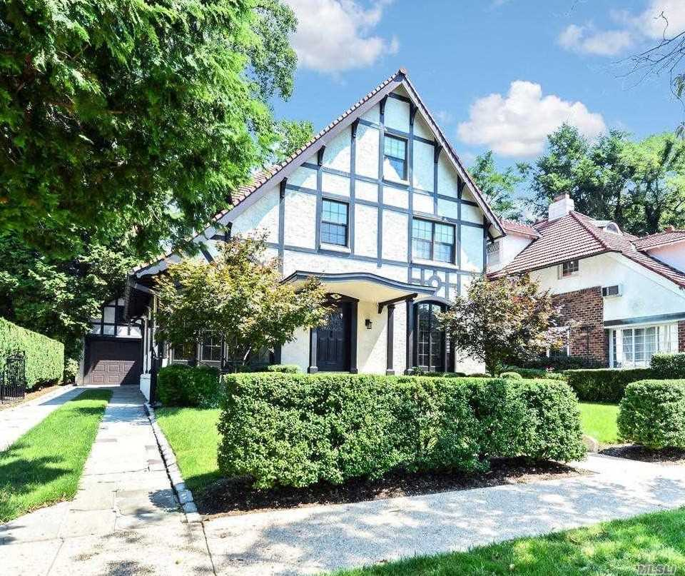 Triple-Mint Tudor Masterpiece, This Is One Of The Most Desirable Houses In The Private Community Of Forest Hills Gardens.  No Expense Was Spared, No Stone Left Unturned In This Immaculately Renovated And Restored Home, Using Only The Highest-End Materials And Brands.  Huge European Custom Eat-In Kitchen And Bluestone Patio Are Perfect For Elegant Entertaining.  Luxury Master Suite With Spa Bath And Huge Walk-In Closet.  Unbeatable Location, Just Minutes Walking Distance From Shopping, Lirr,Mta.