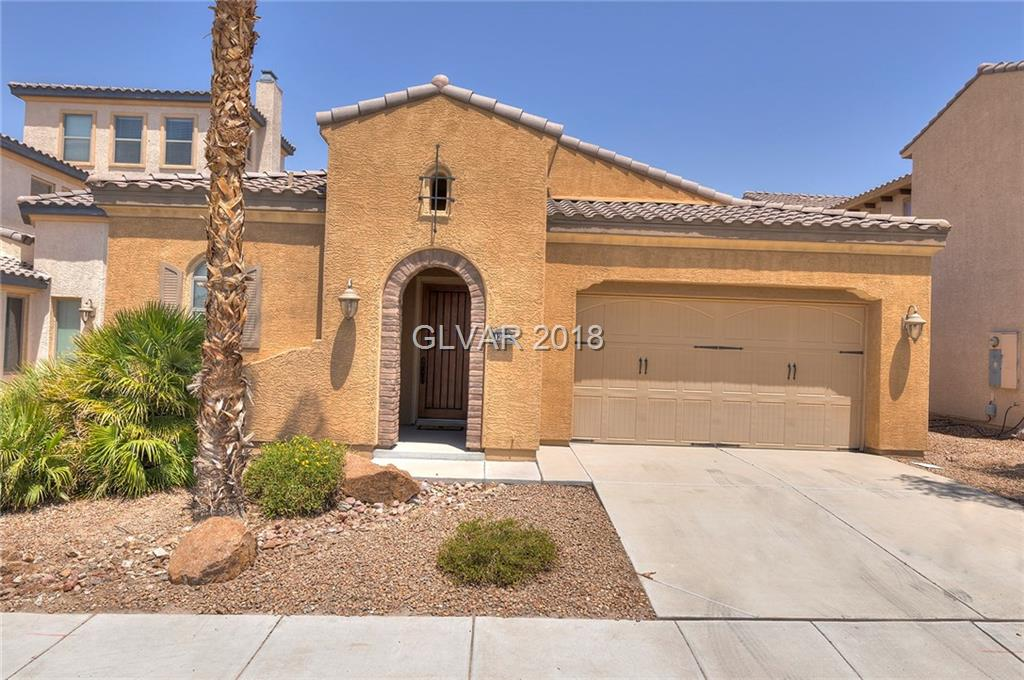 Rare 3 bed 3 full bath single story w/open floorplan and good light in 24/7 guard gated golf community. Gourmet kitchen with granite counter-tops and large island with breakfast bar. Large great room with fireplace, stone flooring in all living areas. Pool size backyard and courtyard. Tuscany boasts excellent amenities inc. rec center, tennis, indoor/outdoor basketball, fitness center, racket-ball, pool room, playground, lagoon pool, lap pool.