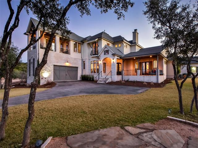 Stunning retreat on +/-13 usable. Very private yet only 12 miles from the Hill Country Galleria. High-end finishes throughout w/ 20' ceilings, professional grade kitchen, a brick encased wine cellar & a full bar for entertaining! Property includes detached casita, sports court, barn w/ small fenced area, & a 25,000 gal. rainwater collection tank. Level area behind the heated saltwater pool perfect for a small riding arena, stables, or full guest house. Endless amenities! See attachments for gate code.