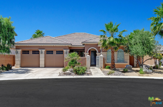 Located within the sought after gated community of Campanile in Cathedral  City, this beautiful,