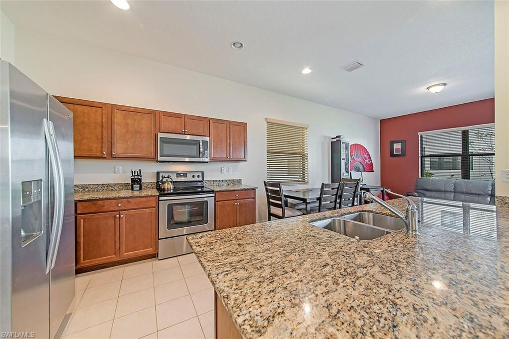 A.4 Well Maintained Balboa Model at the End of Brin Way.  Built in 2016, this home has a spacious front porch that sits quietly on the end of the street that has easy and convenient access to the homeowner's mailbox.  Granite countertops, stainless steel appliances, and a large kitchen island that provides bar stool seating.  Half bath on bottom floor, two full baths and three bedrooms up top.  Double door access to back lanai, with AC compressor in back of the house located away from the lanai, providing a comfortable buffer from compressor noise.  Priced to Sell-  A Must See.  Living In Ave Maria.
