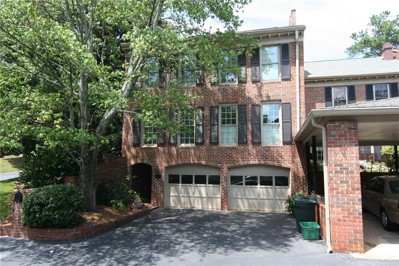 This executive townhome is located in the perfect location - just off GA 400 & 285 not too far from Perimeter Mall. Fenced patio and private courtyard area.  Large dining room off the kitchen complete with large windows, & crown molding. Great Room has fireplace.  Bedroom on main level. Master is HUGE with 3 sets of closets. Two other bedrooms up plus storage.  W/D included.   Approximately 2416 sq/ft. (very roomy). Community Pool. [Add $45/mo towards Water+Trash]
