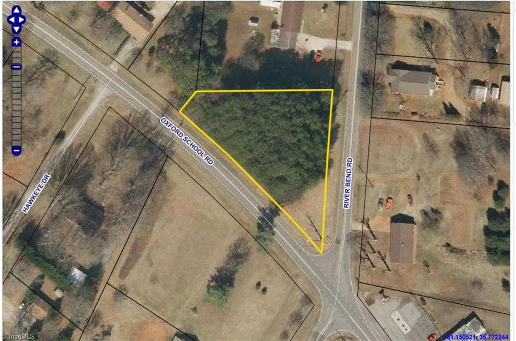 Nice lot located at the intersection of Oxford School Rd. and Riverbend Rd. Zoned rural Commercial, public water available.